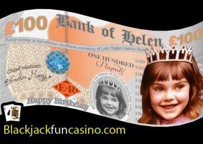 Birthday personalised pound note currency