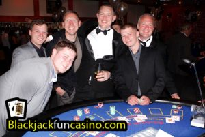 People having a great time at the casino tables