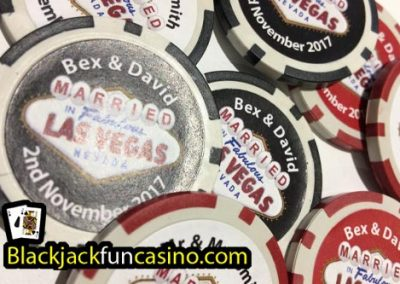 Example of Personalised Casino Chips.