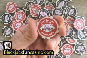 Personalised Poker Chip example