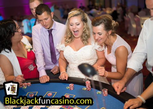 Wedding Reception Fun Casino Hire