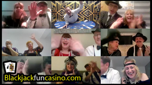 Blackjack with friends on Zoom