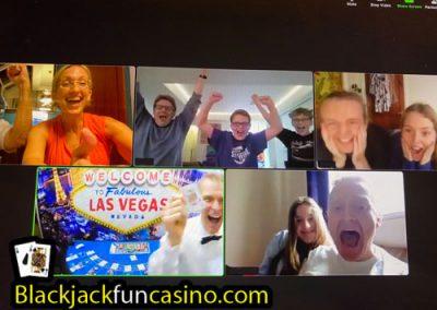 Virtual family casino party